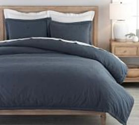 Pottery Barn Triangle Stitch Washed Cotton Quilt &