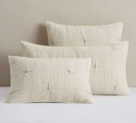 Pottery Barn Soft Cotton Handcrafted Striped Sham