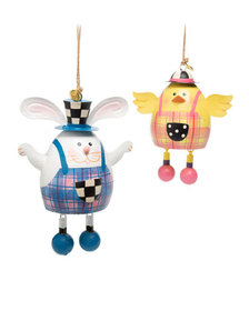MacKenzie-Childs Easter Duo Ornaments Set of 2