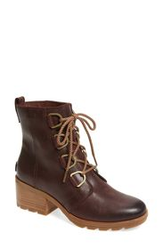 SOREL Cate Waterproof Lace-Up Boot