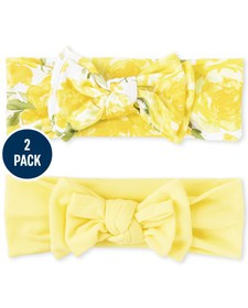 Baby Girls Bow Headwrap 2-Pack