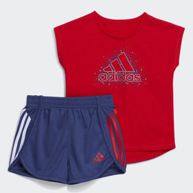 Adidas Infant & Toddler Training Red Graphic Tee a