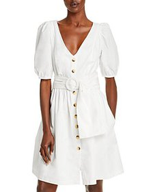 FRENCH CONNECTION - Besima Puff Sleeve Belted Dres