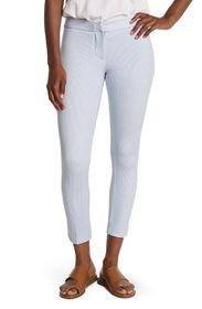 AMANDA AND CHELSEA Striped Ankle Crop Pants (Petit