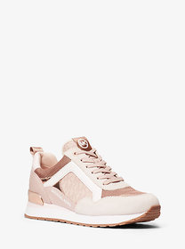 Michael Kors Wilma Suede and Logo Trainer