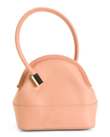 Isel Leather Satchel With Novelty Handle