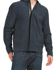 Suede Hooded Shirt Jacket