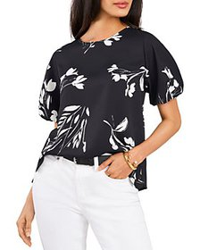 VINCE CAMUTO - Floral Whispers Puff Sleeve Top