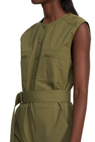 Theory Sleeveless Belted Cargo Jumpsuit
