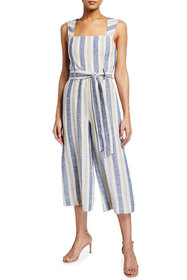 Alice + Olivia Marty Striped Gaucho Jumpsuit