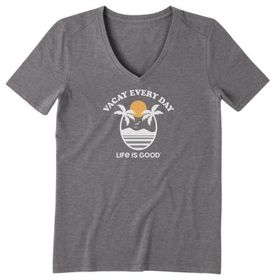Life is Good Vacay Every Day Cool Short-Sleeve V-N