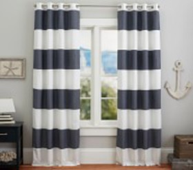 Pottery Barn Hayden Rugby Grommet Blackout Curtain