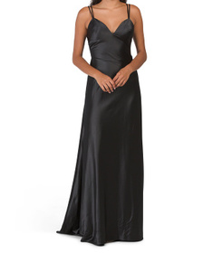 Strappy Satin Gown