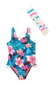 HURLEY Printed One-Piece Swimsuit (Baby Girls)