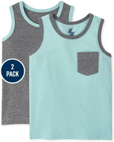 Baby And Toddler Boys Pocket Tank Top 2-Pack