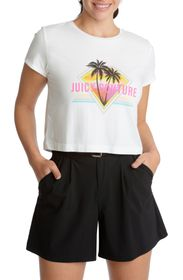 JUICY COUTURE CROPPED GRAPHIC TEE