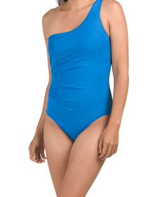 One Shoulder Ruched One-piece Swimsuit
