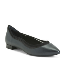 Wide Leather Comfort Flats