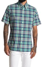 BROOKS BROTHERS Plaid Button Front Shirt