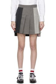thom-browne - Grey Super 120s Dropped Back Pleated
