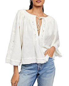 Free People - Sun Valley Embroidered Fringed Peasa