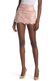 RED VALENTINO Floral Lace Macarame Shorts
