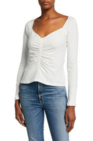 A.L.C. Halley Ruched Long-Sleeve Tee