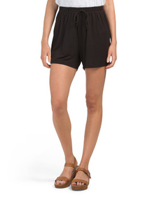 Made In Usa Pull On Mock Drawstring Shorts