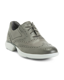 Men's Leather Lace Up Wing Tip Shoes