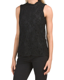 Ruffle Neck Lace Top