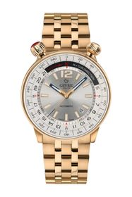 GEVRIL Men's Gevril Wallabout Silver Dial Watch, 4