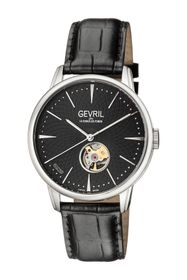GEVRIL Men's Mulberry Swiss-Automatic Embossed Lea