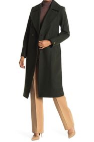NINE WEST Double Breasted Long Wool Coat