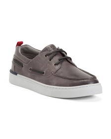 Men's Leather Three Eye Boat Shoes