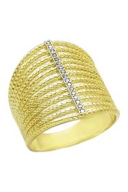 SAVVY CIE JEWELS 14K Yellow Gold Plated Sterling S
