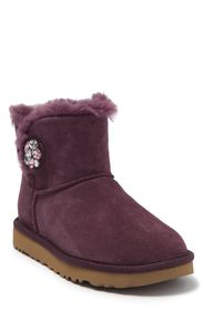 UGG Mini Bailey Buttoned Genuine Shearling Bootie