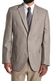 NAUTICA Tan Structured Two Button Notch Lapel Wool
