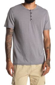LUCKY BRAND Edge Washed Henley Top