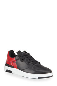 Givenchy Men's Wing Tricolor Logo Low-Top Sneakers