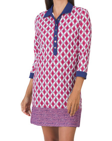 Upf 50 Rosewood Button Down Cover-up Dress