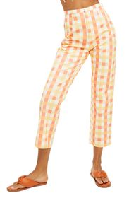 FREE PEOPLE She's All That Plaid Crop High Waist P