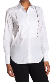 VALENTINO Long Sleeve Studded Button Front Shirt