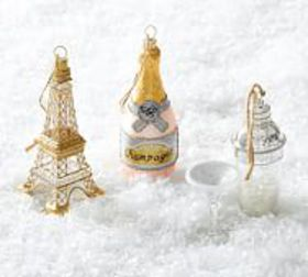 Pottery Barn Glitz and Glamour Ornaments - Set of