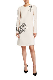 Lela Rose Floral Embroidered Tunic Dress