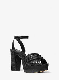 Michael Kors Royce Quilted Python Embossed Leather