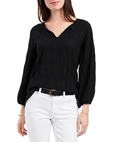 VINCE CAMUTO - Smocked Textured Blouse