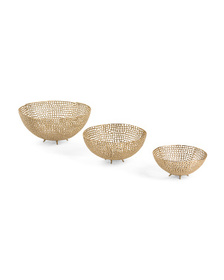 Set Of 3 Footed Bowls