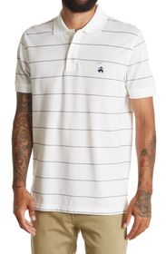 BROOKS BROTHERS Striped Pique Slim Fit Polo