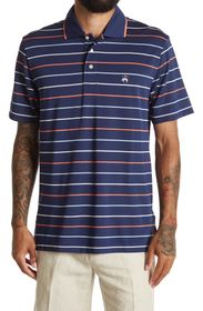 BROOKS BROTHERS Striped Pique Knit Polo Shirt