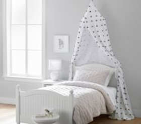 Pottery Barn Black And White Tufted Canopy